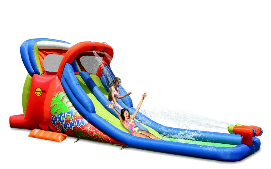 Garden water slides tesco garden inspiration for Happy hop inflatable water slide